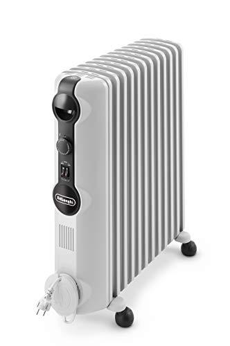 De'Longhi TRRS1225 Olie-radiator Radia-S Serie - elektrische energiebesparende radiator met 12 ribben voor ruimtes tot 75 m3, grijs