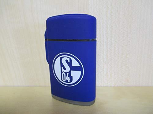 ZORR FC Schalke 04 - Feuerzeug - Rubber Laser (blau) - Fanartikel - Bundesliga - Logo - Fußball - S04 -