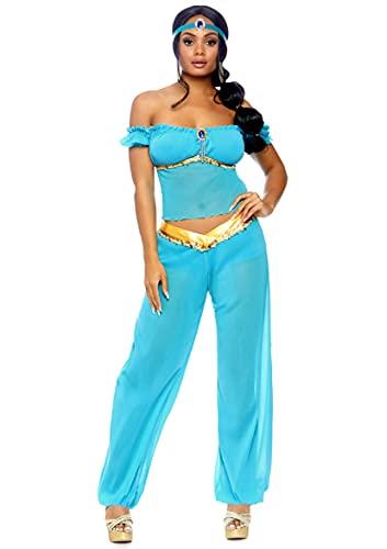 Leg Avenue Women's Arabian Beauty Princess Costume, Turquoise, Large