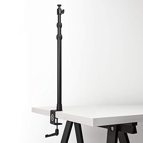 Elgato Multi Mount (ausfahrbar bis 125 cm, zentrales Kugelgelenk, 1/4 Zoll Gewinde, gepolsterte Tischklemme, Kompatibel mit allen Elgato Multi Mount Geräten) schwarz