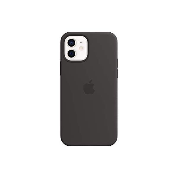 Apple Silicone Case With Magsafe For Iphone 12 Iphone 12 Pro Black