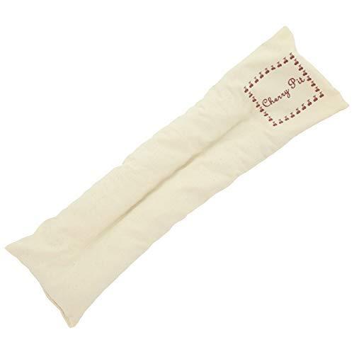 Cuscino ecologico con noccioli di ciliegio extra lungo, contiene 350 grammi, per il relax e benessere. Da riscaldare in forno o in microonde. Dimensioni 42x12cm (Naturale)