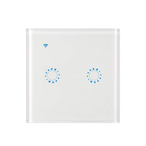 Galapara Interruptor Inteligente, Interruptores inalámbricos Interruptor de luz WiFi Smart Wall Compatible con Alexa y Google Home Assistant, Control de App Interruptor de luz táctil