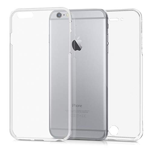 kwmobile Schutzhülle kompatibel mit Apple iPhone 6 Plus / 6S Plus - Hülle Silikon Komplettschutz - Handy Cover Hülle Transparent