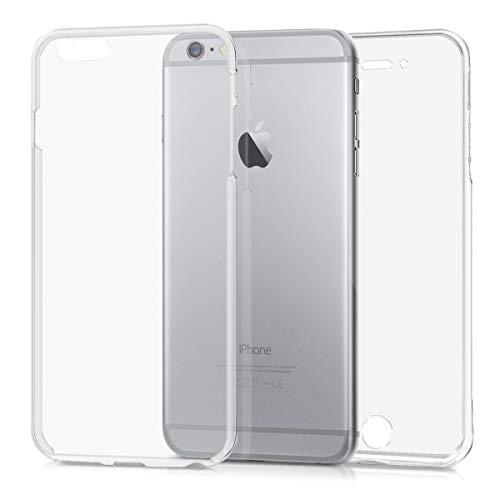 kwmobile Apple iPhone 6 Plus / 6S Plus Hülle - Silikon Komplettschutz Handy Cover Case Schutzhülle für Apple iPhone 6 Plus / 6S Plus - Transparent