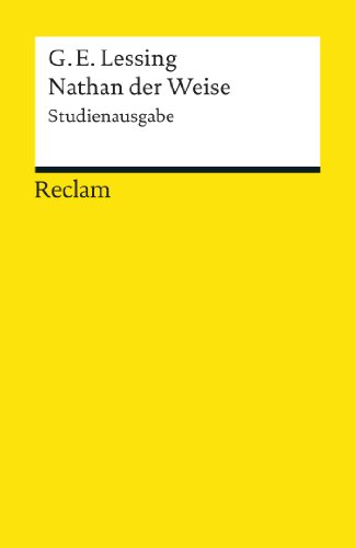 Nathan der Weise (Studienausgabe): Reclams Universal-Bibliothek