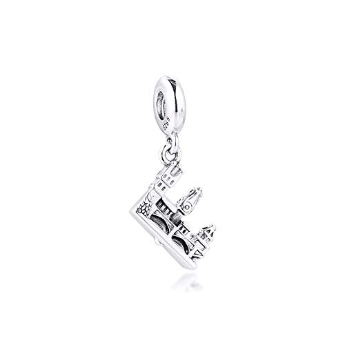LYDXD Fit Original Pandora Charm Armbänder 925 Sterling Silber Perle Prag Karlsbrücke Für Schmuck