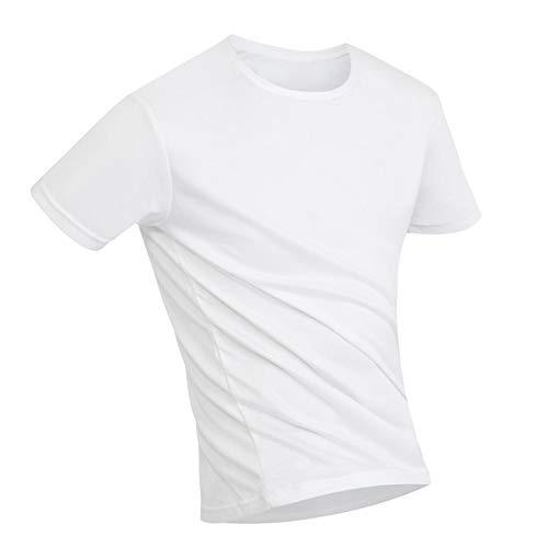 ZREAL Herren Einfarbig Kurzarm Flüssigkeitsbeständig Super Hydrophob Rundhals T-Shirt für den Sommer