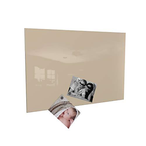 Colours-Manufaktur Magnettafel inkl. Magnete - in 4 Verschiedene Größen und 18 (vanille, 60 x 90 cm)