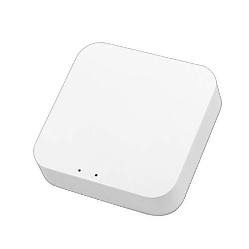 YAMAZA Tuya ZigBee Smart Home Gateway Hub, ZigBee 3.0 WLAN Drahtloser Smart Home Brücke, Smart Life APP Fernbedienung, ZigBee Gerät Kompatibel mit Alexa Google Assistant