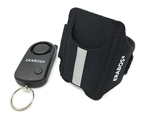 ERABOS® Panikalarm für das Handgelenk MIT Reflektoren speziell für Jogger, Radfahrer und Wanderer | Taschenalarm Premium Modell für die ganze Familie | Personenalarm | Schrillalarm