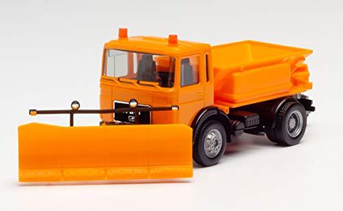 herpa 309547 – Man F8 Winterdienstfahrzeug, Kommunal Fahrzeug mit Räumschild, Trucks, Miniatur Auto, Modellbau, Miniaturmodelle, Sammlerstück, Kunststoff - Maßstab 1:87