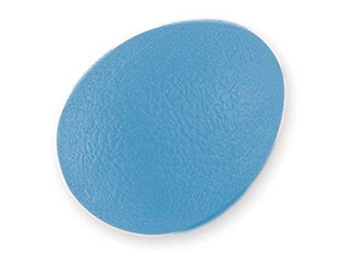 GIMA - eiförmiger Anti-Stress-Ball, Trainingsgerät für Finger, Hand und Handgelenk, für Die Rehabilitation, Widerstandsstufe Schwer, Farbe Blau