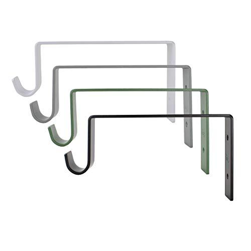 Natural Goods Berlin Garderobe GARD Neukölln   Wandgarderobe Design mit Ablage Holz   Set Kleiderstangenhalterung mit Regal Wandmontage   Eiche & Metall (mit 100cm Kleiderstange & Regalboden, Grau)