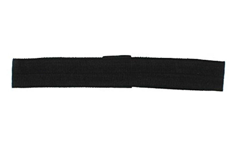 Trimweaver 10-Piece Fold Over Elastic Headband for Craft, Black