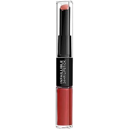 L'Oreal Paris Pintalabios Permanente Larga Duración Infalible 24H Lipstick, Color Rojo Tono 506 Infalible