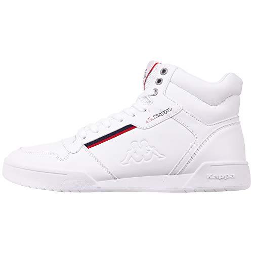 Kappa Mangan, Zapatillas Altas Unisex Adulto, White/Red 1020, 40 EU