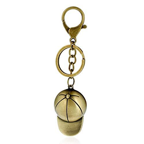 xiaojie Legierungsfahrradhutpfirsichherz Keychain Paarautoschlüsselanhänger-Schlüsselkettenschlüsselring-Hut