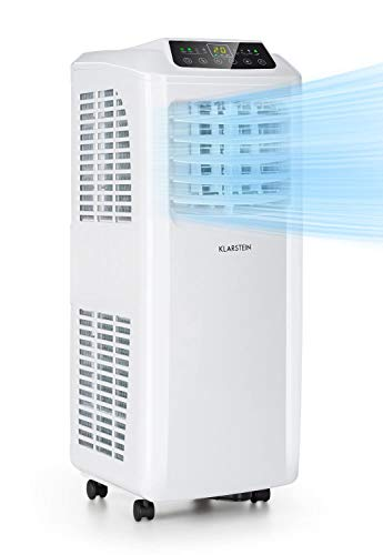 KLARSTEIN Pure Blizzard Smart - Condizionatore Portatile 3in1: Climatizzatore Deumidificatore Ventilatore, Wi-Fi: AppControl, incl. Guarnizioni Finestre, Timer 24h, 9.000 BTU 2,6 kW, 26-44 m², Bianco