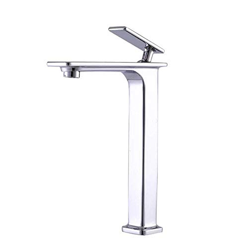 ZUQIEE Grifo del lavabo del grifo del baño grifos lavabo lavabo agua salpicaduras lavabo sola caliente y fría cobre grifo baño