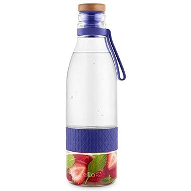 Ello Zest Glass Infuser Bottle, Violet Ice, 20 Oz.