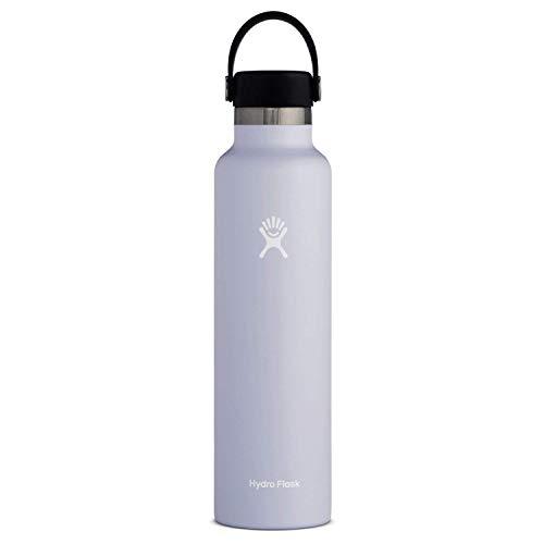 Hydro Flask Trinkflasche 709ml (24oz), Edelstahl und vakuumisoliert, Standard-Öffnung mit auslaufsicherer Flex Cap, Fog