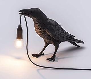 Fågellampor modern LED vägglampa ljusarmatur sovrum sänglampa vägglampa för vardagsrum dekoration korp skrivbordslampa