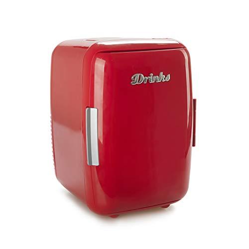 Balvi Frigorifero Drinks Colore Rosso Mini Dispositivo di Raffreddamento Matiene Cibo o...