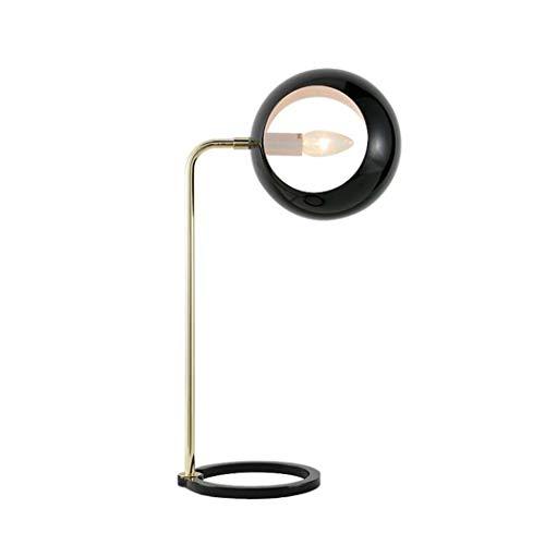 GJX led-tafellamp, moderne, minimalistische kleine halve cirkelvormige bureaulamp met draaibare metalen lampenkap, woonkamer, slaapkamer, nachtkastje, kunsttafellamp