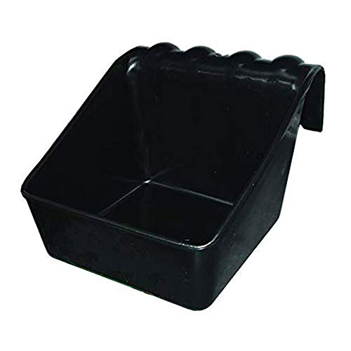 Little Giant SBPU Universal Block Holder and Feeder; Grain/Supplement Feeder for Cattle, Horses, Goats, Sheep, Alpacas & Llamas; Polypropylene Plastic, Holds 50-Lb or 6.5 Quarts, 12.63'x14.25'x9.69'