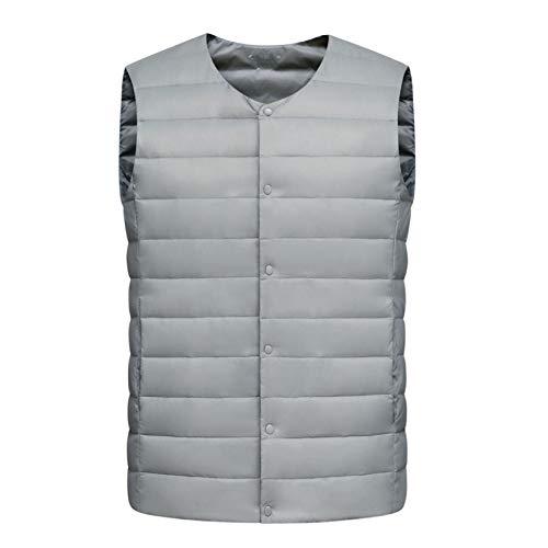 Chaqueta acolchada ligera sin mangas para hombre de recreación al aire libre Golf Chaleco acolchado de algodón