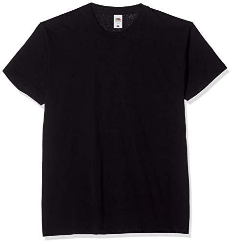Fruit of the Loom Original tee, 5 Pack Camiseta, Negro (Black 36), Large (Size:L) (Pack de 5) para Hombre