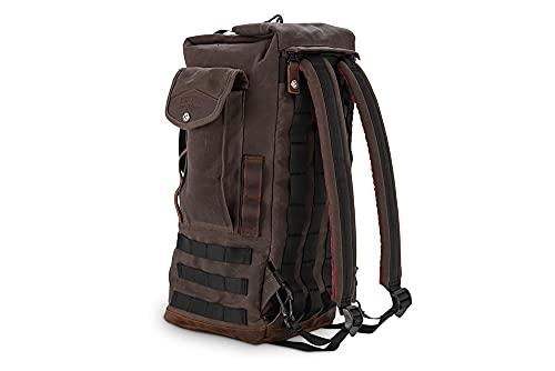 Burly Brand Brn Sissy Bar Backpack Dark Oak B15-1013D New