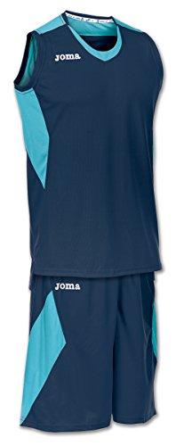 Joma Set Space, Completo da Basket per Uomo, Blu, XL