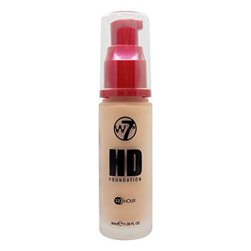 W7 | Foundation | HD Foundation - Sand Beige | Light to Medium Coverage, Lightweight and Long Lasting