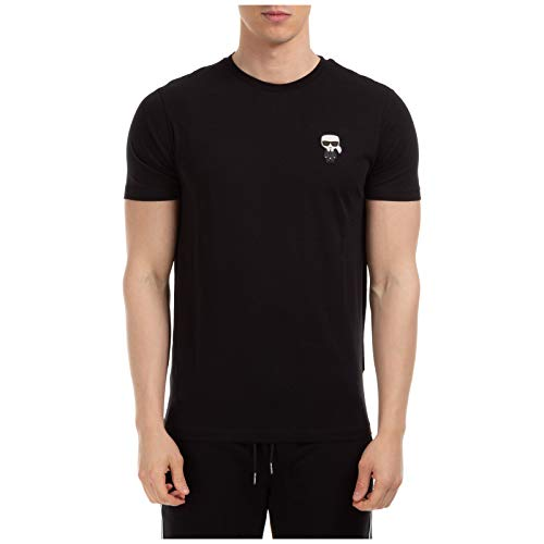 Karl Lagerfeld T-shirt korte mouwen met patch Karl Iconik model 755055-501220