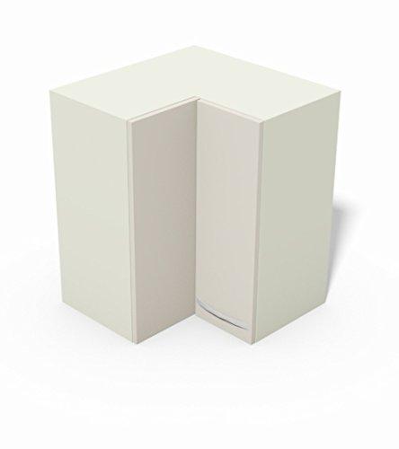 Tosend Servizi sas Pensile per Cucina componibile cm L60 angolare - Modello Quadra Colore Bianco Opaco