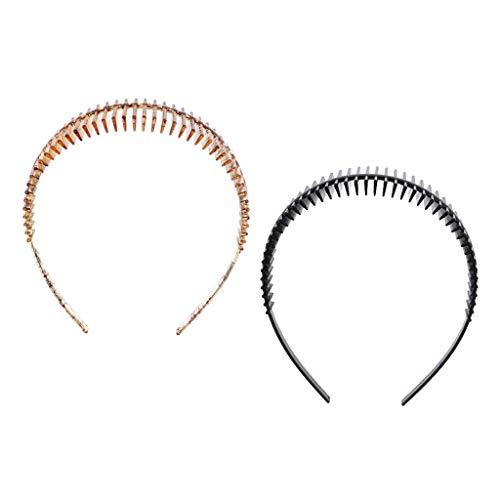 P Prettyia 2 Stücke Damen Haarreif Haarband Stirnband Haarreifen für Make-up Sport Alltagskleidung