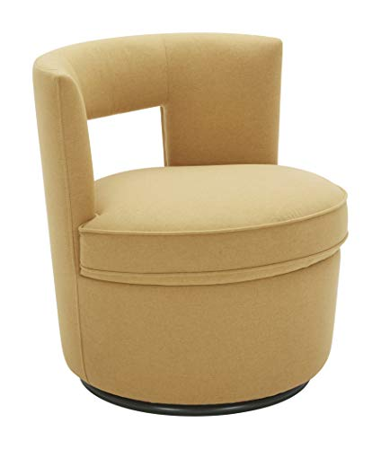 Amazon Brand – Rivet Slade Contemporary Living Room Accent Swivel Chair, 27'W, Canary