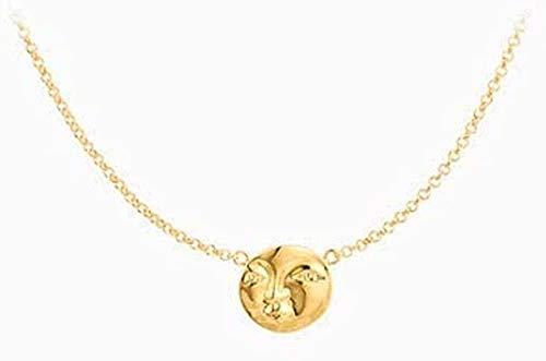 Yiffshunl Collar de Cadena de clavícula joyería Simple luz de Lujo Temperamento Todo-fósforo Mujer Neklace para Mujer Collar Regalo