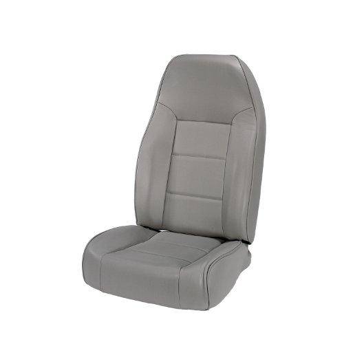 Rugged Ridge 13401.09 Seat, High-Back, Front, No-Recline, Gray; 76-02 Jeep CJ/Wrangler YJ/TJ