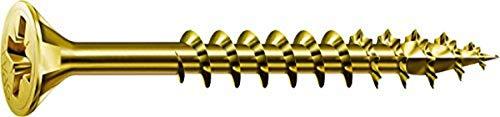 SPAX Universalschraube, 5,0 x 100 mm, 200 Stück, Kreuzschlitz Z2, Senkkopf, Teilgewinde, 4CUT, YELLOX A2L, 1081020501005