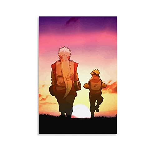 JKLM Naruto - Póster decorativo de Naruto y Jiraiya (20 x 30 cm)