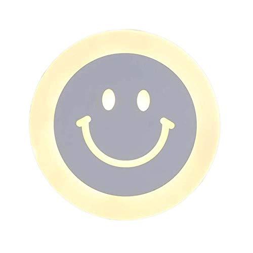 Lámpara de Pared con Iluminación Decorativa Lámpara de pared, de acrílico, Moderno Ronda Diseño sonriente, iluminación for la sala de estar, comedor, dormitorio, estudio, Pasillo, Porche, etc.
