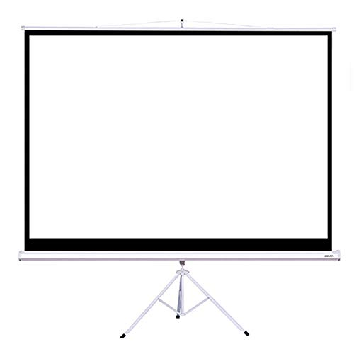 Projector Screen 100 Inch With Projector Bracket For Home Office 4:3 Projector Screen Front and Rear Projection (Color : White, Size : 100 Inch)