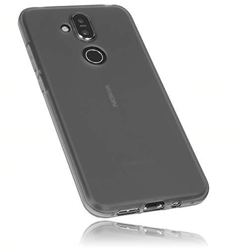 mumbi Hülle kompatibel mit Nokia 8.1 Handy Hülle Handyhülle, transparent schwarz