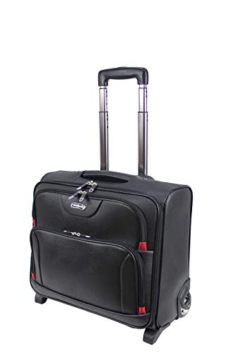 Rocklands Wheeled Laptop Briefcase Business Office Bag Laptop Trolley Case Pilot Case Travel Cabin Bag 8801
