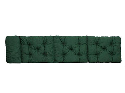 Ambientehome Deckchair Auflage für Liege, grün, ca 195 x 49 x 8 cm, Polsterauflage, Kissen