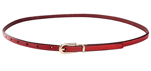 Aivtalk Mode Damengürtel Extra Dünn PU Leder Hüftgürtel Taillengürtel Dornschließe Jeans Kleid Belt Gürtel