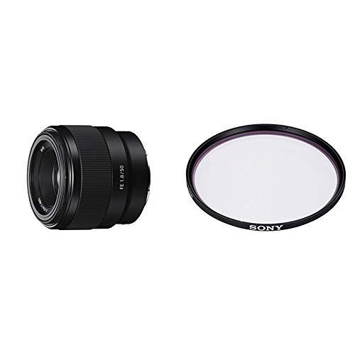 Sony SEL-50F18F Standard Objektiv (Festbrennweite, 50 mm, F1.8) schwarz + Sony VF-49MPAM Carl Zeiss T MC-Schutzfilter 49 mm schwarz